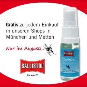 Sommerzeit ist Mückenzeit - Ballistol Stichfrei