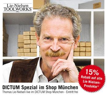 Thomas Lie-Nielsen live im DICTUM-Shop München am 19. März 2016